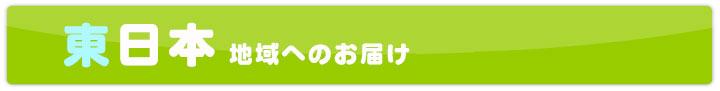 東日本地域へのお届け