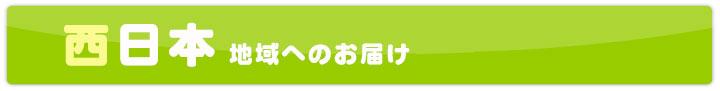 西日本地域へのお届け